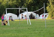 Zelte und Kinder